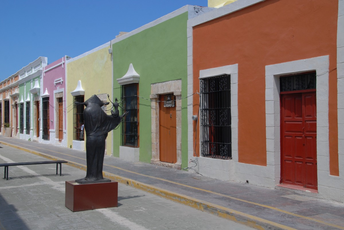 Farbenfreudig präsentiert sich Campeche - das Unesco Weltkulturerbe