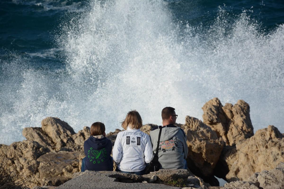 Die Familie und das Meer